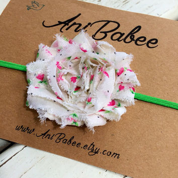 Shabby chic baby headband, baby headband, flower headband, floral headband, headband for girls, teen, infant headband