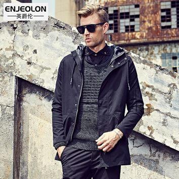top hoodies Bomber jackets men fashion black solid Men coats clothing,hooded Jacket Men clothes