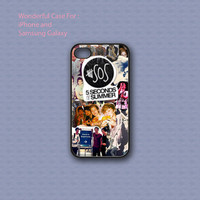 5 Seconds Of Summer Collage - Print on hard cover for iPhone case and Samsung Galaxy case