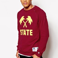Trainerspotter X Russell Athletic Sweat - Burgundy