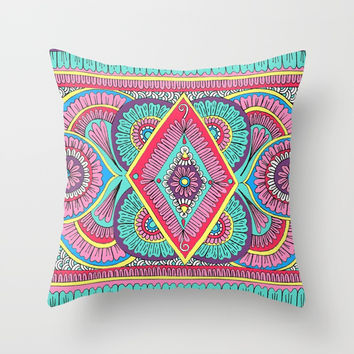 Cosmic Rainbow Throw Pillow by Sarah Oelerich