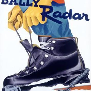 Bally Radar Snow Ski Boot Ad Fine Art Print