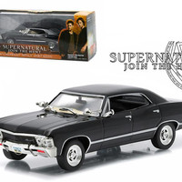 "1967 Chevrolet Impala Sports Sedan ""Supernatural"" (TV Series 2005) 1-43 Diecast Model Car by Greenlight"