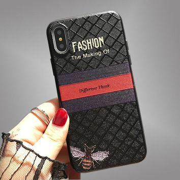 3D touch Butterfly bee case for iPhone x case luxury Fashion relief back cover for iphone 7 8 6s 6 plus Shockproof protection