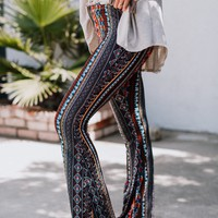 Cher Floral Flare Pants - Brown