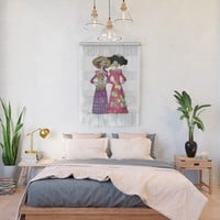 Las Calaveras Amigas Wall Hanging by gx9designs