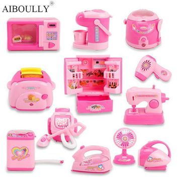 Mini Kitchen And Home Appliances Toys With Light & Sound