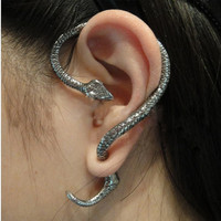 Earring Cuff Earrings with New Arrived Silver Amazing Punk Temptation Snake
