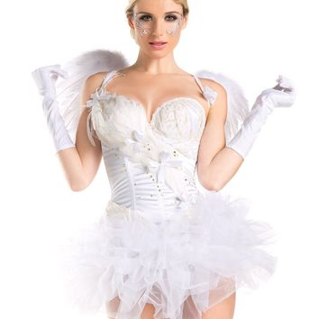 Two Piece 2 for 1 White Swan/Angel