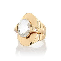 River Island Womens Gold tone overlay signet ring