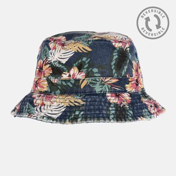 Tropical Denim Reversible Bucket Hat