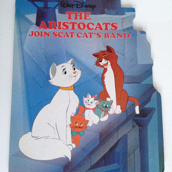 Vintage Disney The Aristocats Children's Board Book