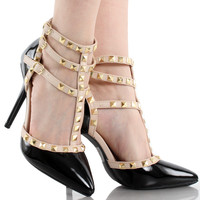 Adora-55N Studded High Heel Pumps