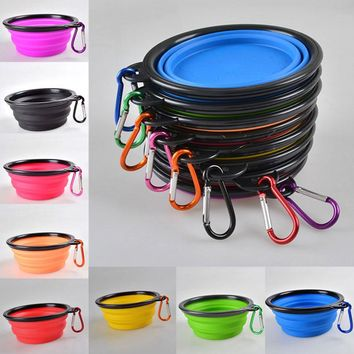 New Portable Foldable Silicone Dog / Cat Bowl