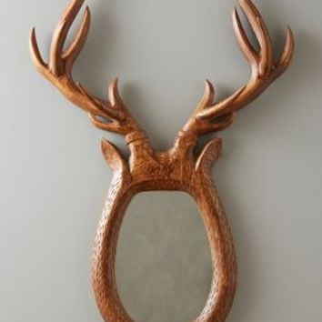 Stag Antlers Mirror by Anthropologie