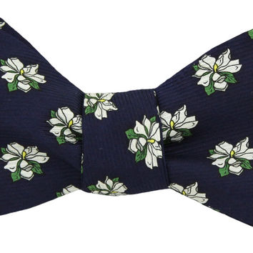 Sweet Magnolia Bow Tie in Navy by Southern Proper