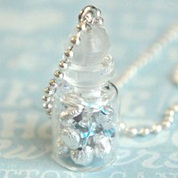 hershey's kisses in a jar necklace