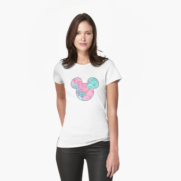 Lilly Pulitzer Inspired Mickey Head - Shells by charmingsouth