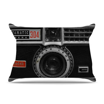 "Robin Dickinson ""Instamatic Red"" Black Gray Pillow Sham"