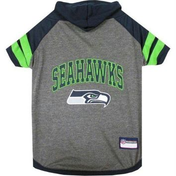 PEAPYW9 Seattle Seahawks Pet Hoodie T-Shirt