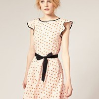 ASOS | ASOS Piped Edge Heart Print Dress at ASOS