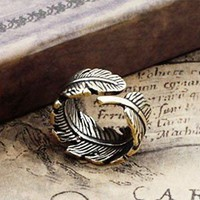 Vintage Adjustable Leaf Ring from SHOPHERE
