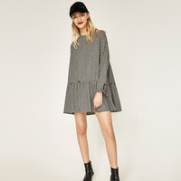 OVERSIZED CHECK DRESS DETAILS