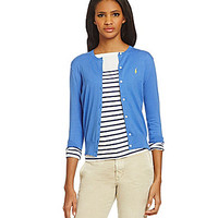 Polo Ralph Lauren Cotton Crewneck Cardigan - Bar Harbor