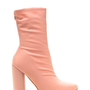 Understated Stance Pointy Chunky Booties