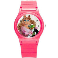 Miss Piggy and Kermit on a Pink Plastic Watch...Great for Kids*