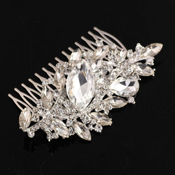 Headpiece - Rhinestone Hair Comb - Bridal Hair Clip Shipping from GA, USA