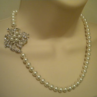 AMIEE Romantic Vintage Style Rhinestone and Pearl by ohmyliferocks