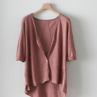 Poetry - Linen V neck Cardigan
