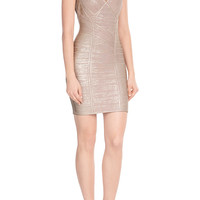 Hervé Léger - Metallic Bandage Dress