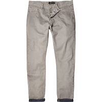 River Island MensGrey slim casual pants