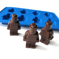 Lego man minifigure silicone mold for jello chocolate candy ice crayon mold tray DIY