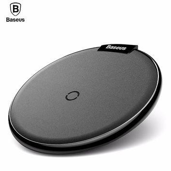 Baseus Qi Wireless Charger Pad For iPhone 8 X Samsung Note 8 Fast Charging Mobile Phone Desktop Wireless Charging Dock Station