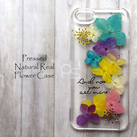XAA Muticolor Daisy Pressed Real Flower Bling Clear Resin Hard Skin Case Cover For iPhone 4 4s 5 5c 5s 6 plus iPod touch 5 5G Samsung Galaxy s3 s4 s5