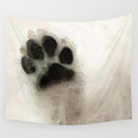 I Paw You - Dog Art By Sharon Cummings Wall Tapestry by Sharon Cummings