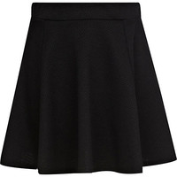 River Island Girls black textured skater skirt