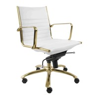 Tampa Office Chair WHITE/GOLD