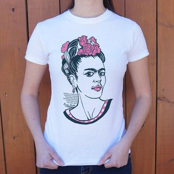 Frida Kahlo Quote T-Shirt (Ladies)