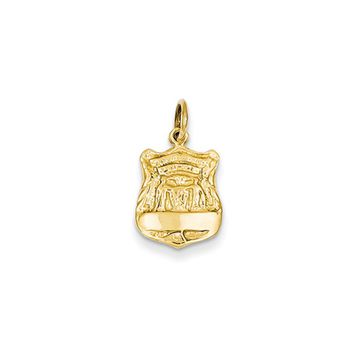 14k Yellow Gold Police Badge Charm