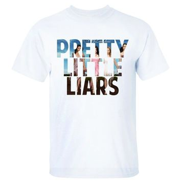 Discount 100% Cotton T Shirts O-Neck Short Sleeve Pretty Little Liars T-Shirt Broadcloth T Shirt For Men