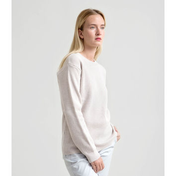 Fisherman's Rib Merino Sweater - Ecru