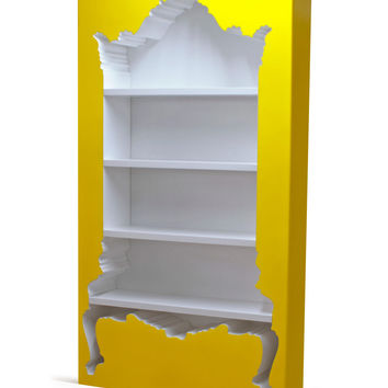 POLaRT InsideOut Bookcase - Yellow Outter White Inner Finish