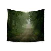 """Angie Turner """"Foggy Road"""" Forest Wall Tapestry"""