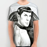Spock All Over Print Shirt by Olechka