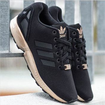 ADIDAS ZX Flux Women Fashion Casual Running Sport Casual Shoes Sneakers Black golden G