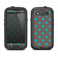 The Gray & Blue Polka Dot Samsung Galaxy S3 LifeProof Fre Case Skin Set